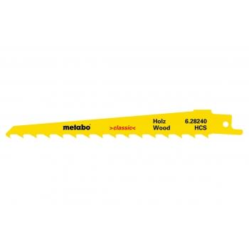 """Полотно для сабельных пил METABO для дерева, серия """"Classic"""", HCS 150x1,25 мм/8,5 мм, 2 шт. (628240000)"""